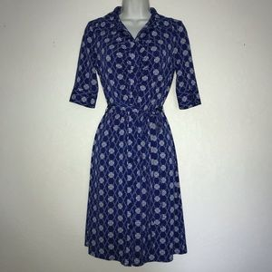 Laundry Stretch Gathered Button Front Shirt Dress